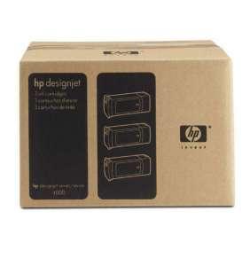 HP No. 90 Cyan 3-Ink Cartridge Multipack (400 ml each)