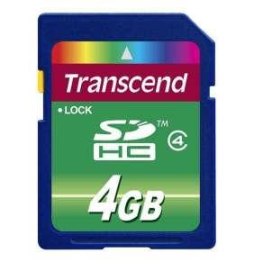 Transcend Pamäťová karta SDHC 4GB Class 4