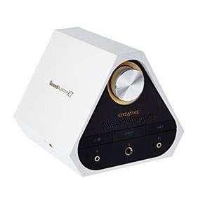 Creative Sound Blaster X7 White special edition, prevodník, zosilovač, dekóder Dolby Digital, zvuková karta, externá