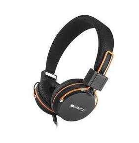 Canyon CNE-CHP2, slúchadlá na uši s integrovaným mikrofónom, skladacie, čierne