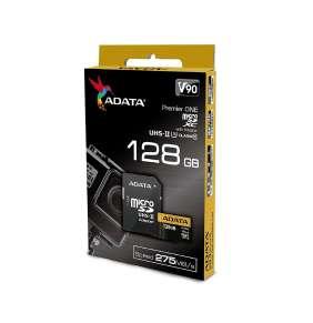 ADATA microSDXC karta 128GB UHS-II U3 Class 10 čítanie/zápis 275/155MBps+adaptér