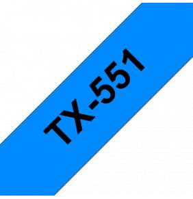 Brother - TX-551, modrá / černá (24mm)