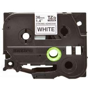 BROTHER extrémně přilnavá páska TZE-S261/ bílá-černá/ 36mm