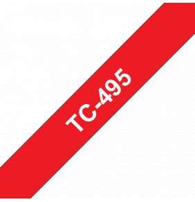 Brother - TC-495 červená / bílá (9mm)