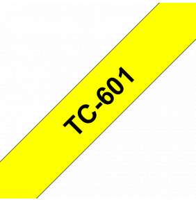 Brother - TC-601, žlutá/černá (12mm)
