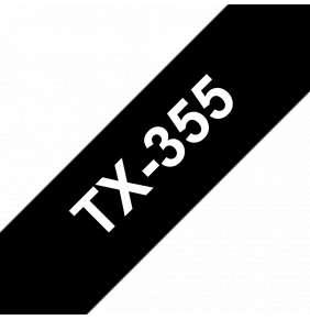 Brother - TX-355, černá / bílá (24mm)