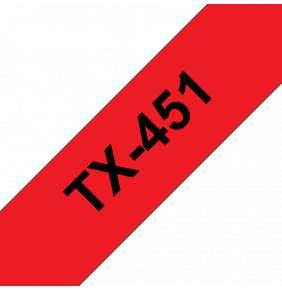 Brother - TX-451, červená / černá (24mm)