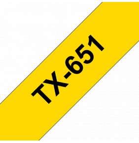 Brother - TX-651, žlutá / černá (24mm)