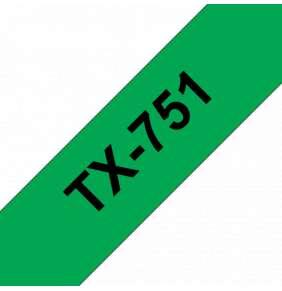 Brother - TX-751, zelená / černá - 1 ks (24mm)
