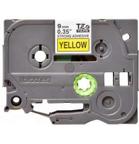 Brother - TZe-S621 žlutá / černá (9mm,lamin., extr. adhez.)