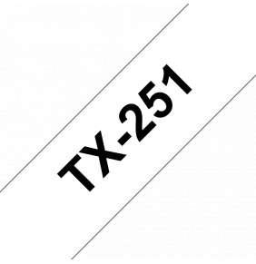 Brother - TX-251, bílá / černá - 1ks (24mm)