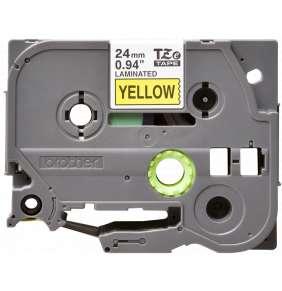 Brother - TZe-651, žlutá / černá (24mm, laminovaná)