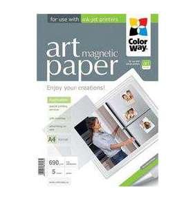 """ColorWay Fotopapier ART Lesklý """"magnetický"""" 690g/m, 5ks, A4"""