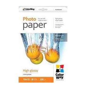 Fotopapier ColorWay vysokolesklý 200g/m2, 10x15, 20 str. /PG2000204R/