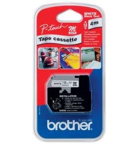 Brother - TM-K231, bílá/černá (12mm, nelaminovaná)