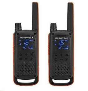 Motorola vysílačka TLKR T82 (2 ks, dosah až 10 km), IPx2, černo/oranžová