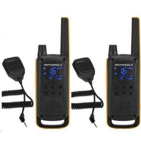 Motorola TLKR T82 Extreme RSM Pack (2 ks, dosah až 10 km), IPx4, černo/žlutá