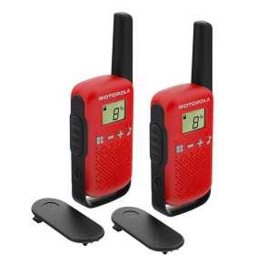 Motorola TLKR T42 vysílačka   2 ks, dosah až 4 km, červená