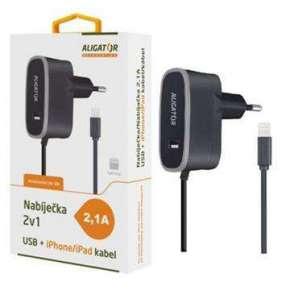 ALIGATOR nab. pro iPhone s USB výst 5V/2,1A, černá