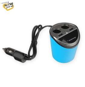 WE auto adaptér CUP 2x USB, 2x CS 5V 9.6A