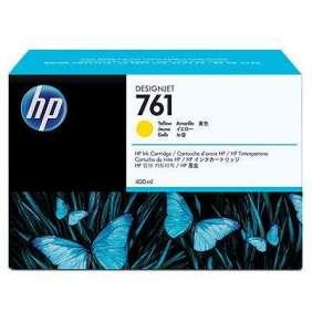 HP 761 Yellow DJ Ink Cart, 400 ml, CM992A
