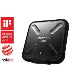 ADATA externy SSD SD700 512GB USB 3.1 3D TLC (čítanie/zápis: 440/430MB/s) čierna