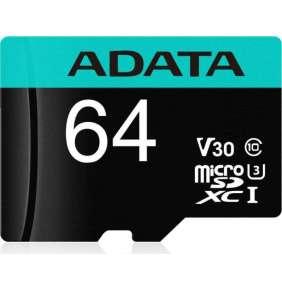 ADATA Premier Pro micro SDHC karta 64GB, Č/Z až 100/80 MB/s, s adaptérom