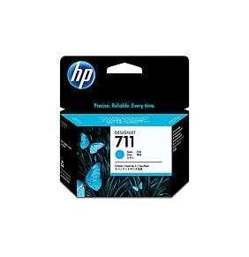 HP 711 Cyan DJ Ink Cart, 29 ml, 3-pack, CZ134A