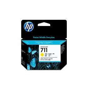 HP inkoustová kazeta 711 žlutá CZ136A originál 3-pack