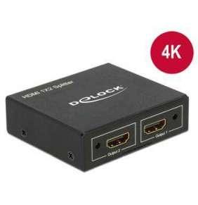 Delock HDMI Splitter 1 x HDMI in   2 x HDMI out 4K
