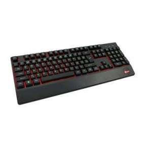 Klávesnica C-TECH KB-104BK, podsvietená klávesnica, podsvietenie 3 farby, čierna, USB, CZ/SK