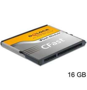 Delock SATA 6 Gb/s CFast Flash Card 16 GB široký teplotní rozsah