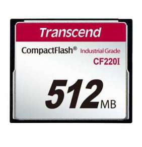 Transcend 512MB INDUSTRIAL TEMP CF220I PIO CF CARD (SLC) Fixed disk and UDMA5