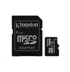 Kingston 16GB micro SDHC 16GB UHS-I Class 10 Industrial Temp Card + SD Adaptér