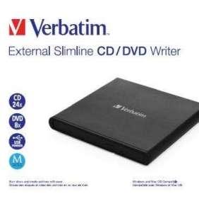 VERBATIM externí mechanika Slimline CD/DVD Writer USB - without NERO