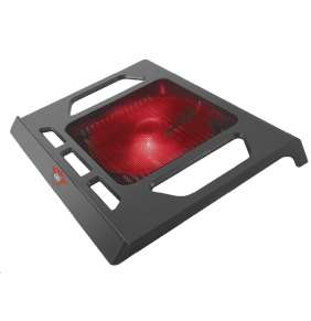 """Trust GXT 220 Kuzo chladicí podložka / pod notebook / do 17,3"""" / 1x podsvícený ventilátor / USB / černá"""
