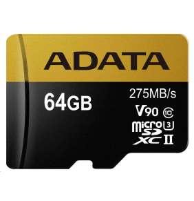 ADATA 64GB MicroSDXC UHS-II U3 bez adapteru