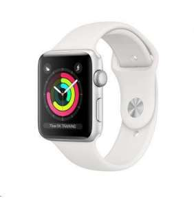 AppleWatch Series 3 GPS, 42mm Silver Aluminium Case with White Sport Band