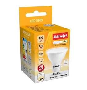 Žiarovka LED ActiveJet  AJE-S2010W 320lm 4,5W GU10 tepla biela