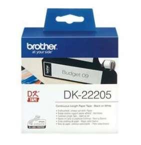 Brother DK-22205, papierová rolka, 62mm x 30,48m, pre QL-1050/1060N/500/550/560/570/580N/650TD