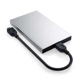 Satechi USB-C HDD/SSD Enclosure - Silver Aluminium