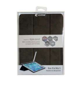 Comma puzdro Leather Case with Pencil Slot pre iPad mini 5 gen. (2019) - Black