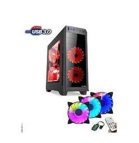 1stCOOL FullTower GAMER 2, set FAN2 RGB LED RING, skrinka ATX, USB3.0, čierna