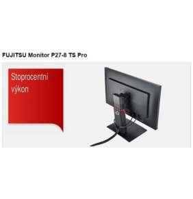 "FUJITSU MT P27-8 TS WQHD LED IPS 27"" mat 2560x1440, 350cd, 5ms, 4xUSB, DP, HDMI, DVI-S, auto Pivot,VESA, černý"