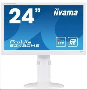 Iiyama monitor ProLite B2480HS, 60cm (23,6''), Full HD, VGA, DVI,HDMI, Pivot, white