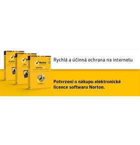NORTON SECURITY DELUXE CZ  1 uživatel na 5 zařízení na 3 roky