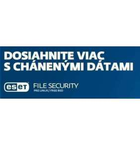 ESET File Security pre Linux / FreeBSD: 2x server + 2 ročný update EDU