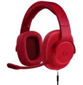 Logitech náhlavní souprava G433 7.1 Surround, červená