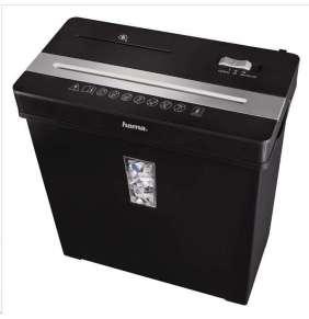 HAMA skartovačka Premium X8CD/ formát A4/ křížový řez/ 5x34mm/ úroveň ochrany 3/ bezpečnostní úroveň 2/ černá