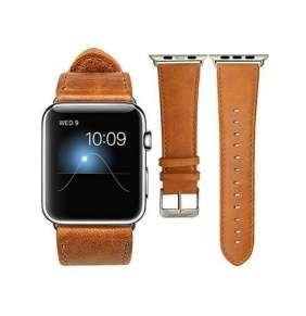 Jisoncase kožený remienok pre Apple Watch 38/40 mm - Vintage Brown